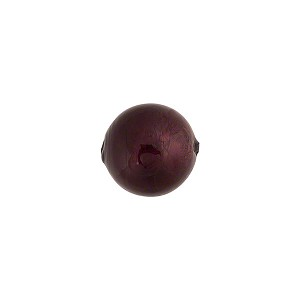 Murano Glass Bead, Dark Amethyst .925 Sterling Silver Foil 10mm Round