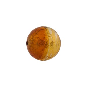 Topaz Amber Gold Foil Bicolor Round 12mm
