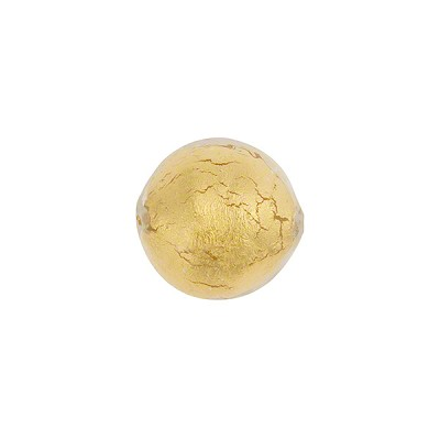 Clear 12mm Gold Foil Round, Murano Glass Bead