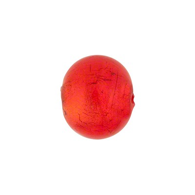 Orange 12mm 24kt Gold Foil Round, Murano Glass Bead