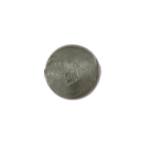 Steel Silver Foil Round 12mm, Murano Glass Bead