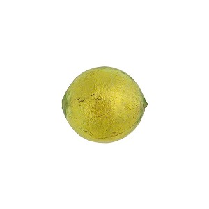 Peridot Green 14mm Gold Foil Round Murano Glass Bead