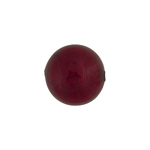 Red (Ruby) 14mm Gold Foil Round Murano Glass Bead