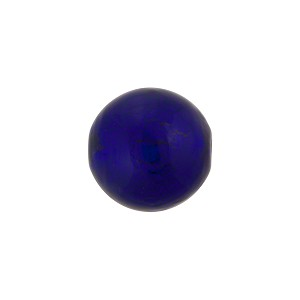Blue over White Gold Foil Murano Glass Bead, 14mm, Round