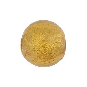 Gaggia Gold Foil 16mm Round Venetian Beads