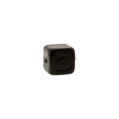 Solid Black Cube 8x8mm