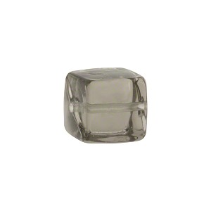 Murano Glass Solid Color Cube, 10mm, Gray