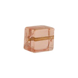 Murano Glass Solid Color Cube, 10mm, Pale Pink