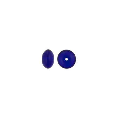 Transparent Cobalt Blue Murano Glass Rondelle Bead, 5mm x 3mm
