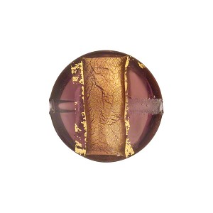Amethyst Gold Band Puffy Disc 16mm