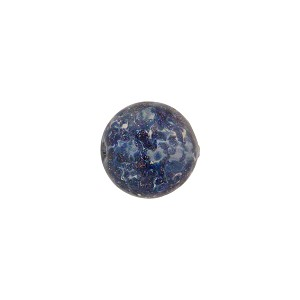 Luna (Dark Blue) Sommerso Style Murano Glass with Aventurina Round Bead, 10mm