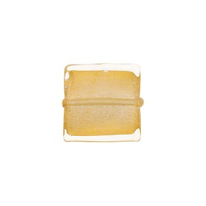 Clear with 24kt Gold Foil 12mm Square Venetian Glass Bead