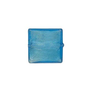 Aqua Square White Gold 11-12mm, Venetian Glass Bead