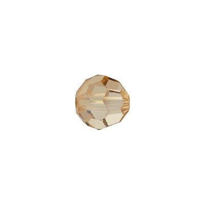 Swarovski 5000 8mm Faceted Round, Light Colorado Topaz