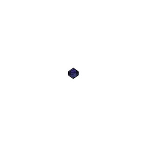 Swarovski 5328 Xilion 3mm Faceted Bicone, Dark Indigo