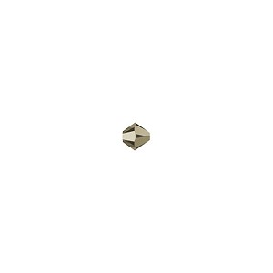 Swarovski 5328 4mm Xilion Faceted Bicone, Crystal Metallic Light Gold 2X