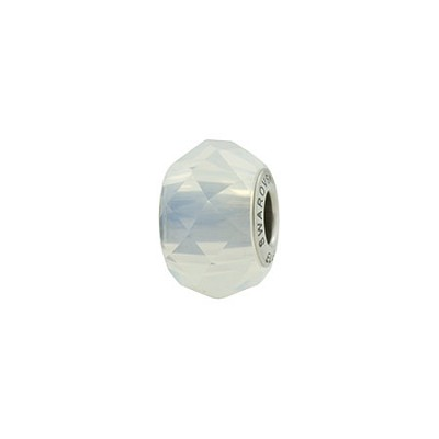 288ce1312 Swarovski 5948 BeCharmed Briolette Bead, White Opal, 4.5mm Hole,Austrian Crystal  Beads,Murano Glass Beads