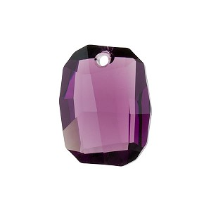 Swarovski 6685 Graphic Pendant, 19mm, Amethyst