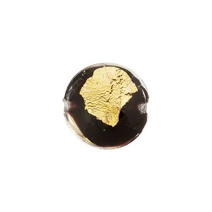 Black/Gold Lentil Tosca 24kt Gold Foil 14mm