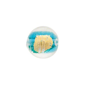 Acqua Tosca Gold Foil Round 12mm, Murano Glass Bead