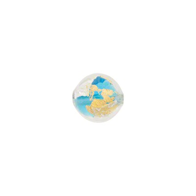 Aqua Gold/Silver Splashes 8mm Round Vicenza Line