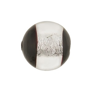 Crystal/Black Silver Windows Round 16mm