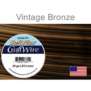 SoftFlex Premium Craft Wire, 20ga, 10 yds, Vintage Bronze