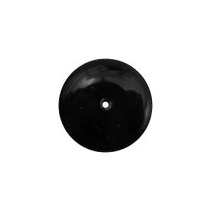 Accent Glass Beads Rondelle 10x3mm Skinny Rondel Opaque Black