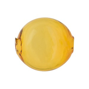 Murano Glass Bead Mouth Blown Topaz Solid Color Penny 20mm
