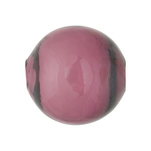 Amethyst Solid Color Blown Round 20mm