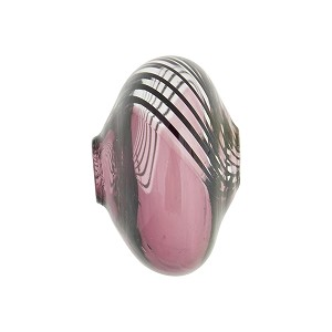 Amethyst with Black Lines Bicolor Blown Cippolina Murano Glass Bead
