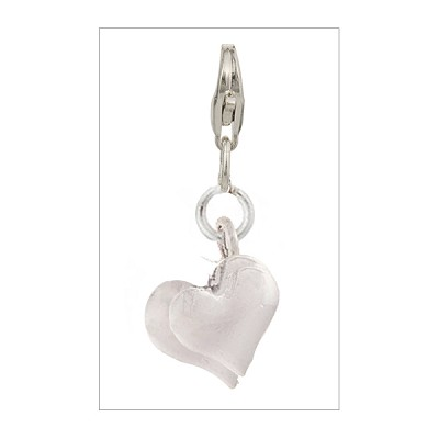 2 Sterling Silver Intertwined Hearts with Trigger Clasp
