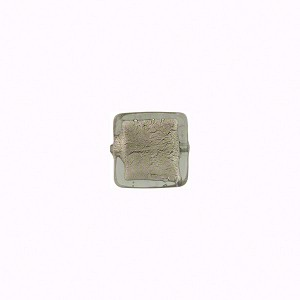 Grey White Gold Cube  8mm by 8mm