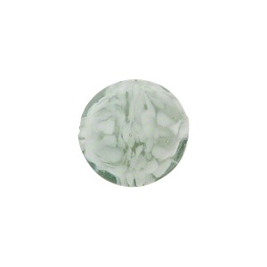Murano Glass Bead Nuvola Lentil 14mm Gray