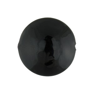Solid Black 18mm Disc Murano Glass Beads