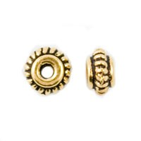 TierraCast 5mm 22kt Gold Plated Coil Space w/Antique Finish