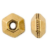 TierraCast 5mm Faceted Spacer Bead, 22kt Gold Plate w/Antique Finish
