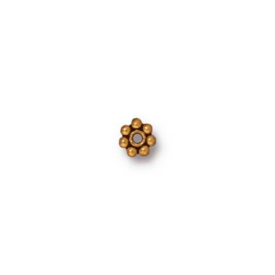4mm Gold Plated Pewter Heishi Spacer Bead