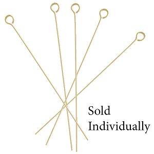1 1/2  Inch Gold Filled Headpins w/Eyehole, 24 ga, Per Piece