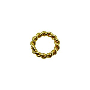 Vermeil Bali Style Twisted Spacer, 8mm Per Piece
