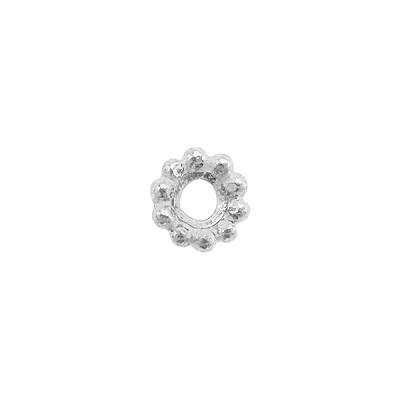Sterling Silver 6mm Textured Spacer Bead