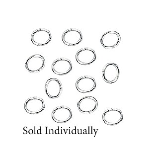 Sterling Silver 4x5mm Oval Jump Ring, Open, 21ga