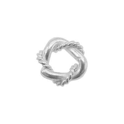 .925 Sterling Silver Cast Twisted Spacer 8mm