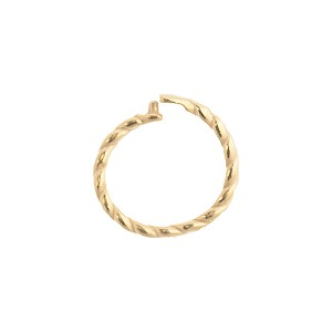 JBB Vermeil, Gold Plated, Sterling Silver Twisted Locking Jump Ring