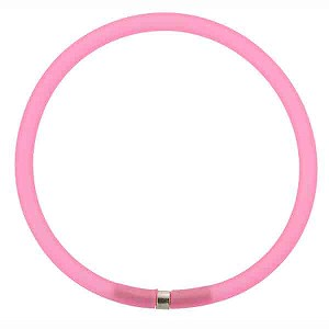 4mm Rubber Tube Necklace 17 Inches, Pink