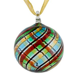 Multi Colored Murano Glass Christmas Ornament