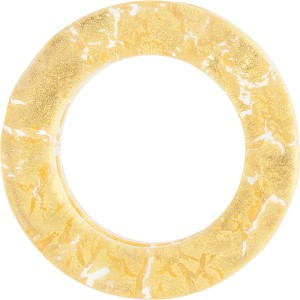 Murano Glass 24kt Gold Fused Circle 29mm - Links, Gold