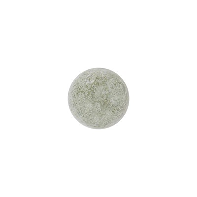 Murano Glass Ca'd'Oro 6mm Round Bead, Clear with White Gold