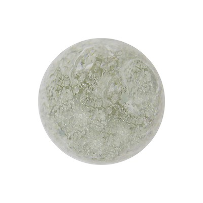 Clear with White Gold Foil Ca'd'Oro Style Murano Glass Round Bead, 12mm