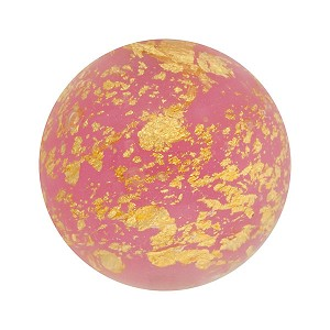 Opalino Pink Ca'd'oro Gold Foil Round 14mm